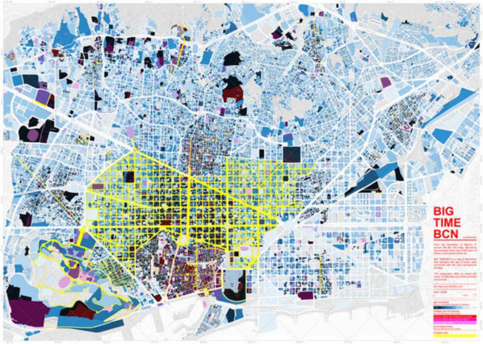 Mapa detallado de la ciudad de Barcelona.