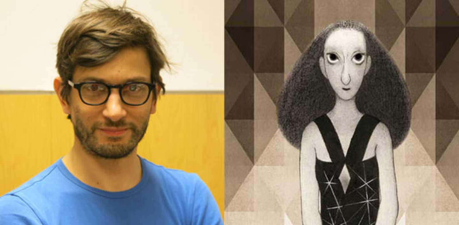 Manuele Fior y fragmento de la portada de 'La entrevista'