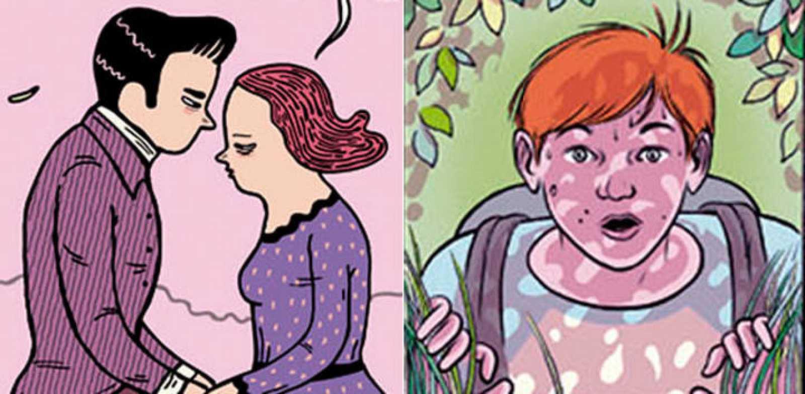 Viñetas de 'trabajo de clase' y  'Los nuevos románticos'