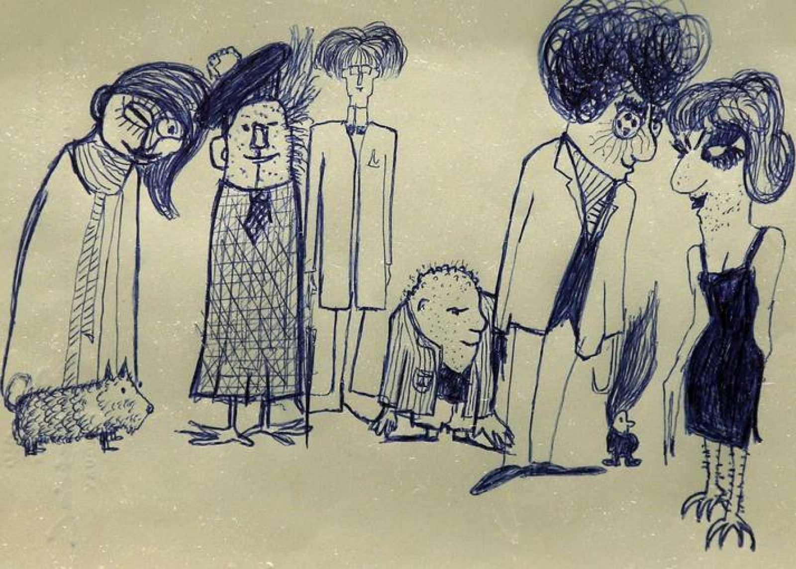 Dibujo realizado por John Lennon, a la venta en Nueva York