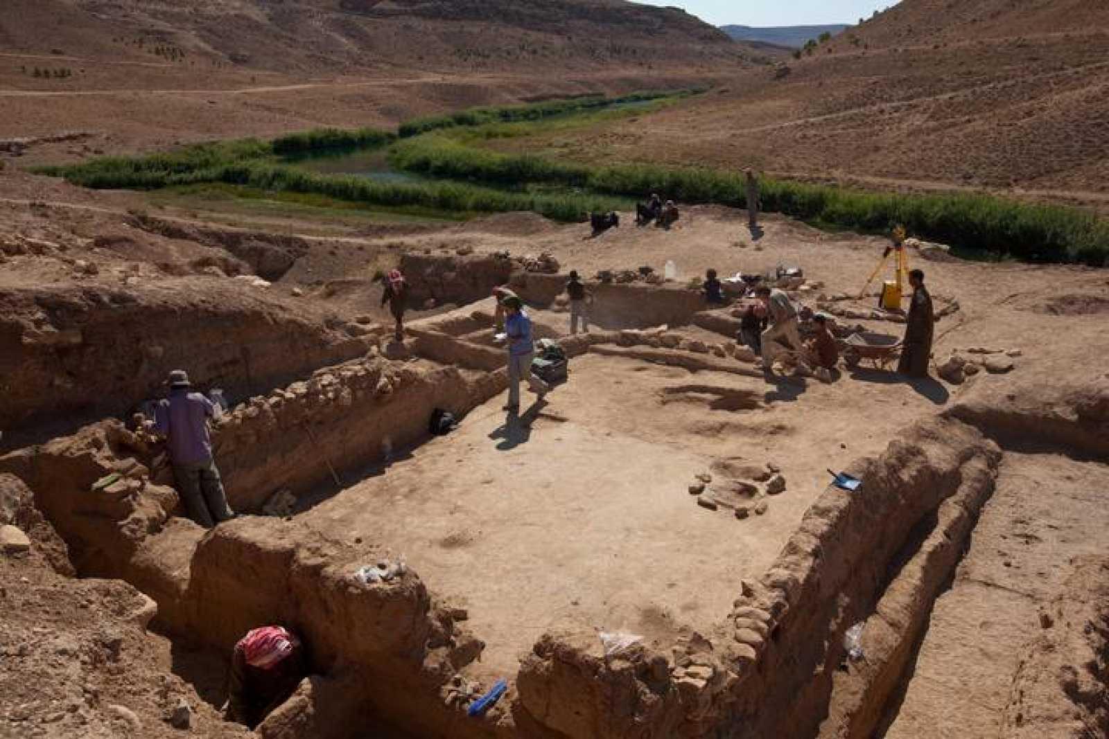 Excavación en Tell Halula, en Siria.