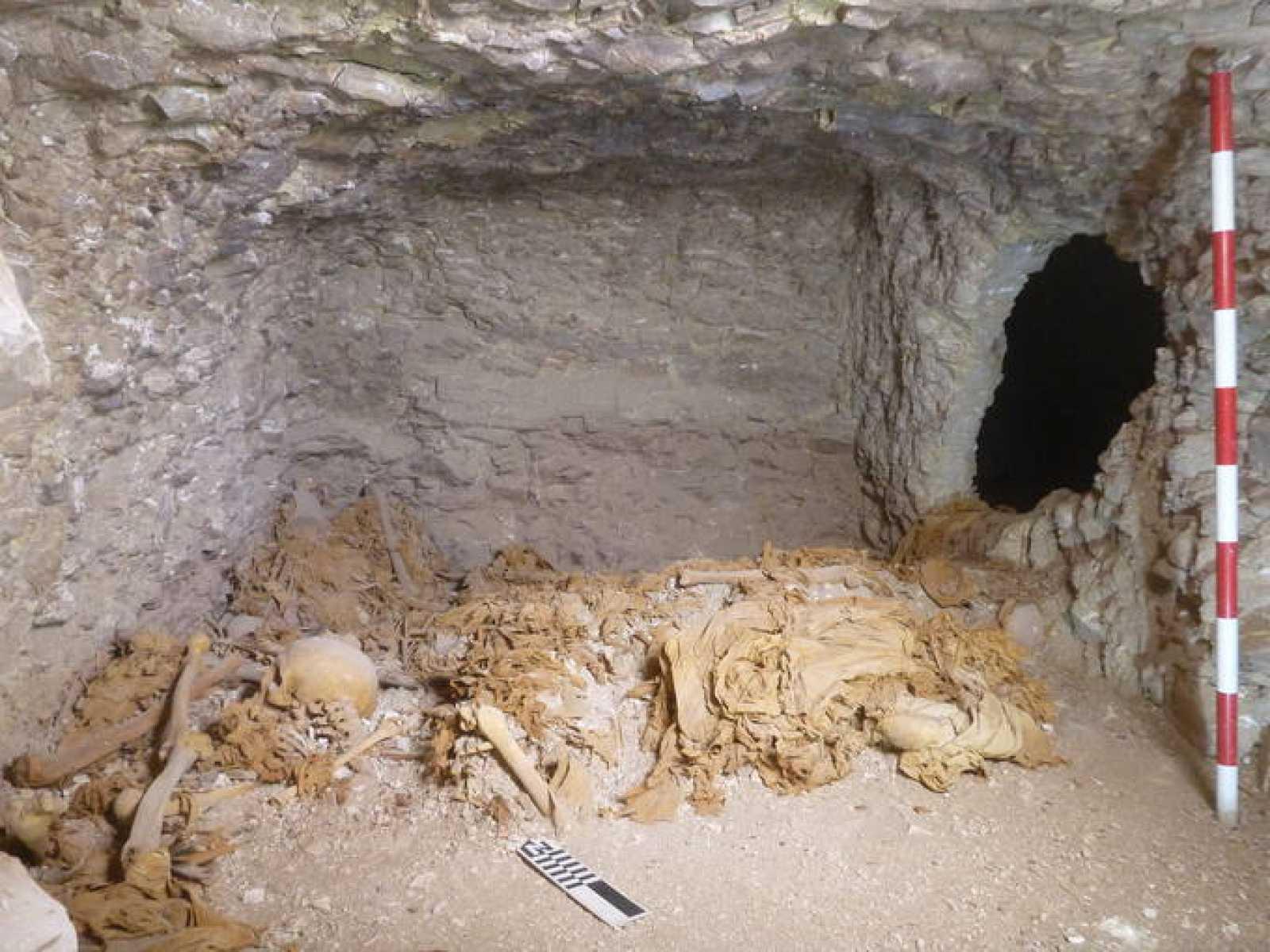 La cámara funeraria de la dinastía XI hallada en la excavación del Proyecto Dhejuty