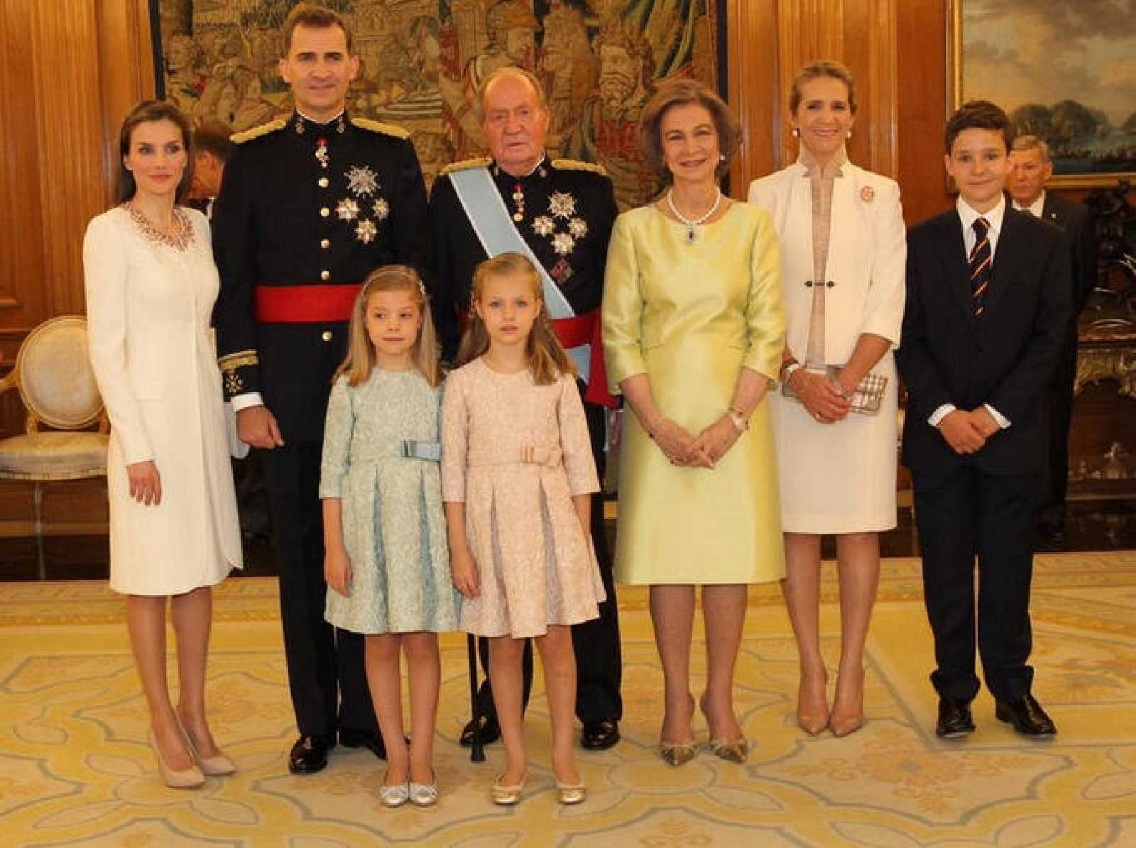 La foto de familia de la Casa Real