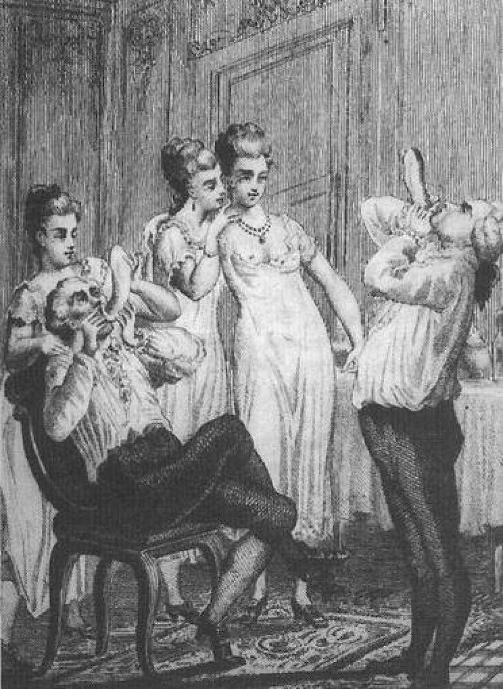 Comprobando que los condones están en buen estado. Memorias de Casanova (Imagen de la British Library London)