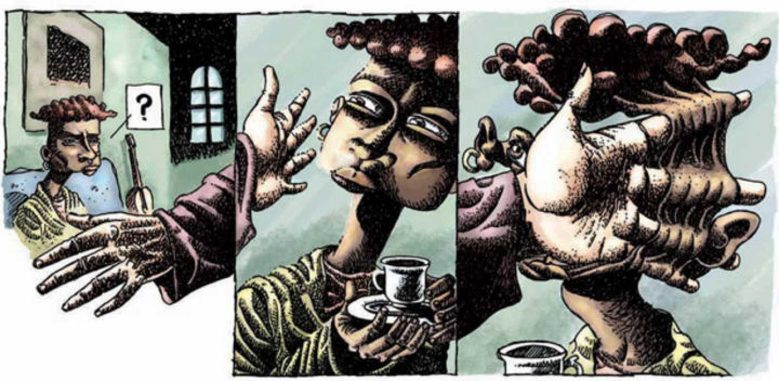 Viñetas de 'Orlando y el juego 1: La sociedad de la niebla', de Luis Durán