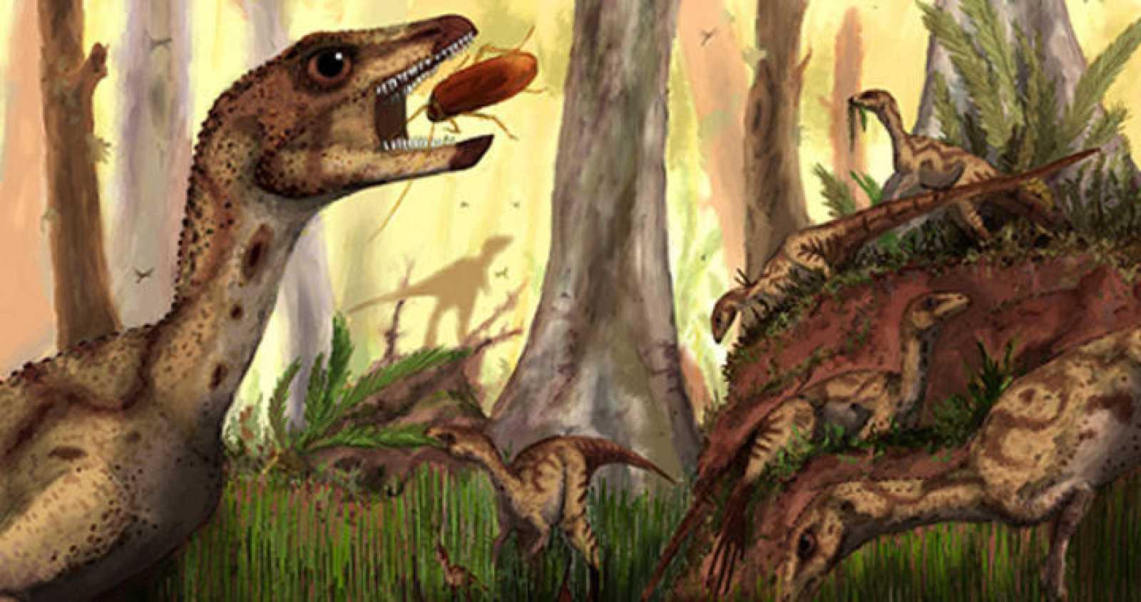 Impresión de una manada de 'Laquintasaura venezuelae'