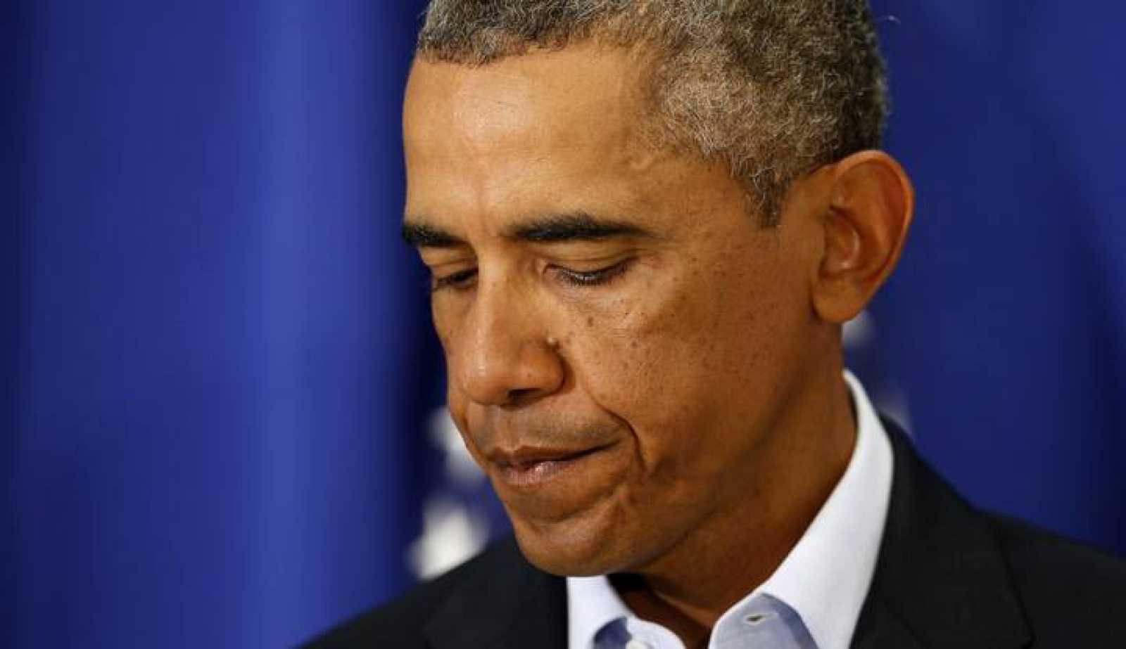 Una imagen del discurso de Obama sobre la decapìtación del periodista estadounidense James Foley.