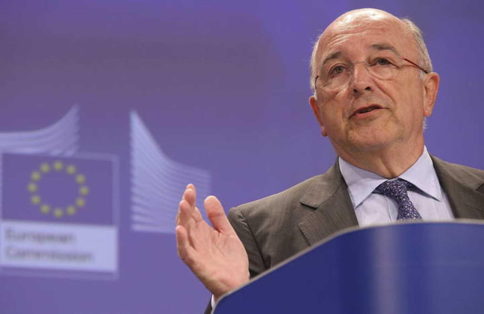 Imagen de archivo del exvicepresidente de la Comisión Europea y comisario de Competencia, Joaquín Almunia