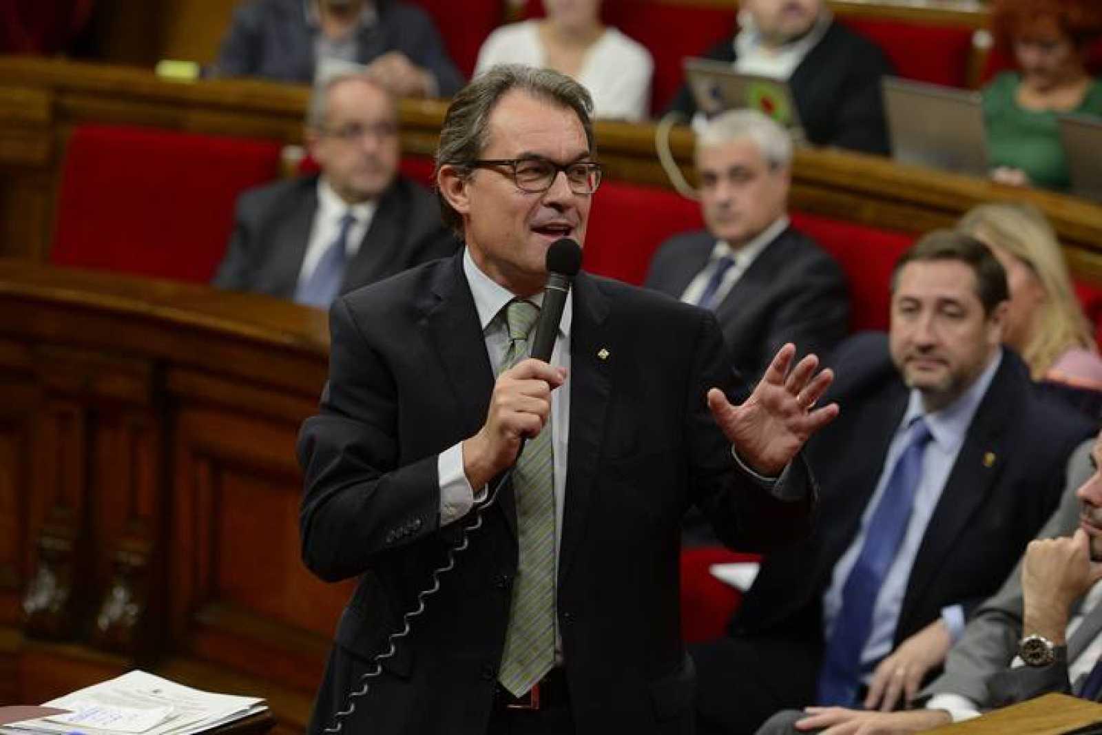 El presidente de Cataluña, Artur Mas, en el Parlament
