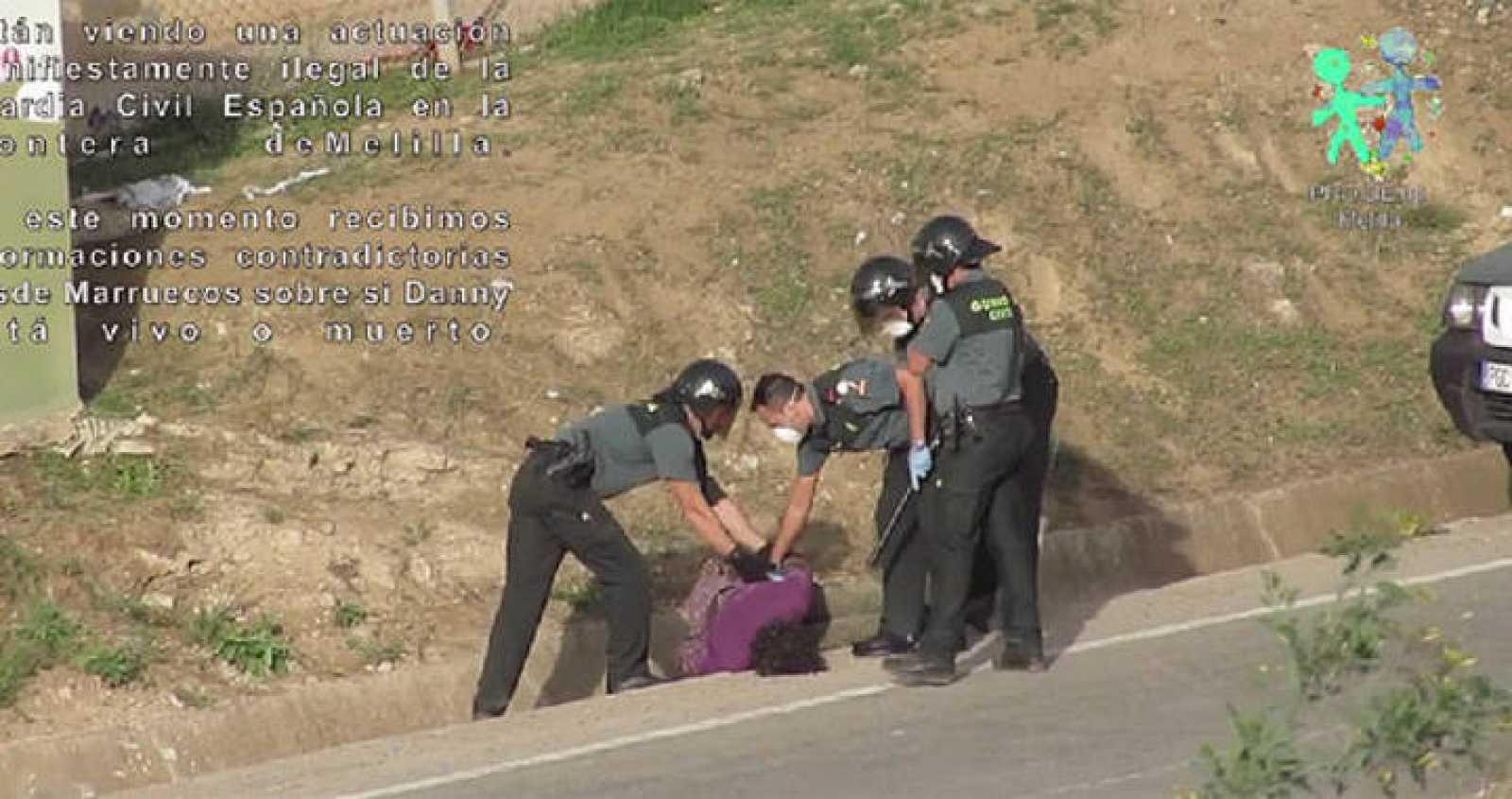 Captura del vídeo difundido por la ONG Prodein
