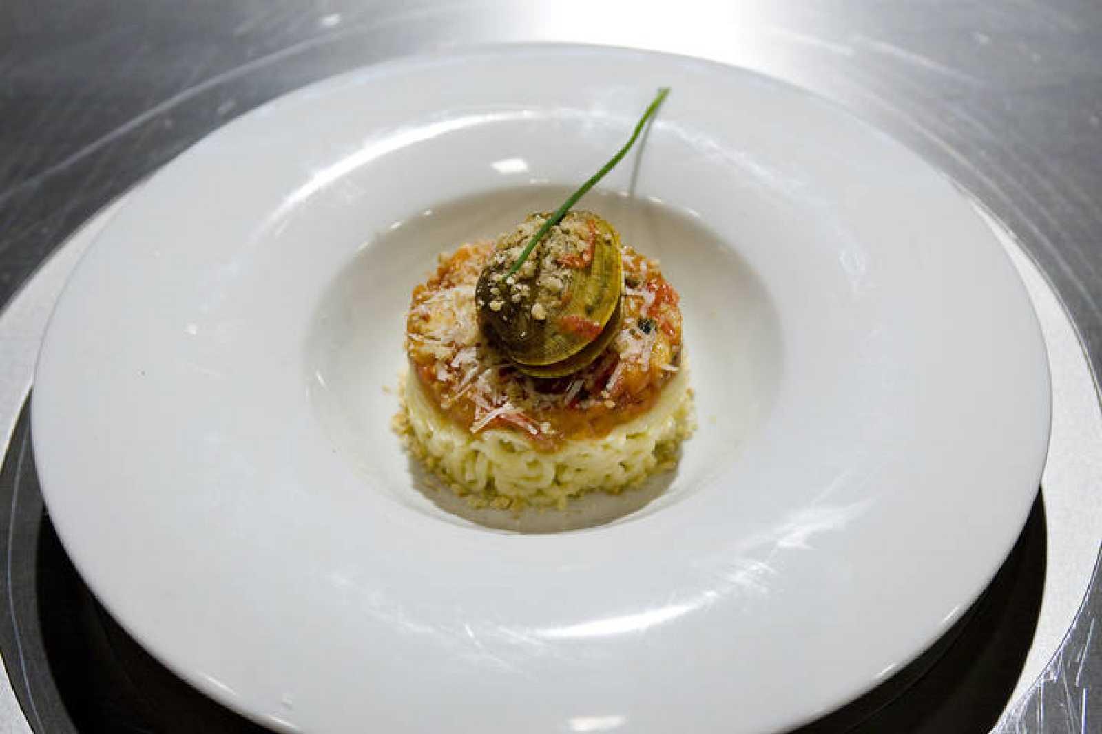 Espaguetis sin gluten con salsa vongole