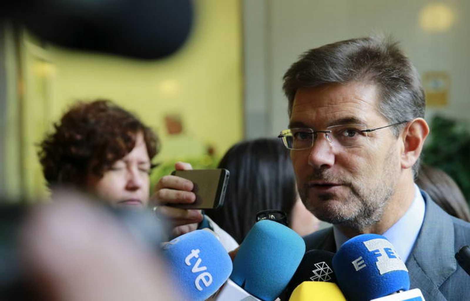 El ministro de Justicia Rafael Catalá en una entrega de premios