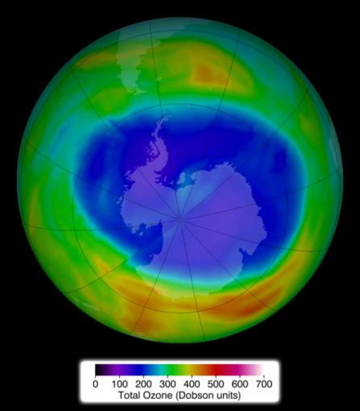 Agujero de la capa de ozono el pasado 11 de septiembre de 2014