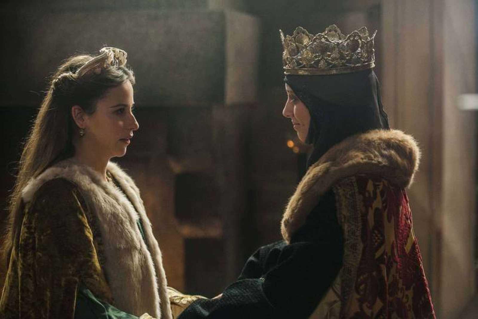 Isabel con su hija Juana.