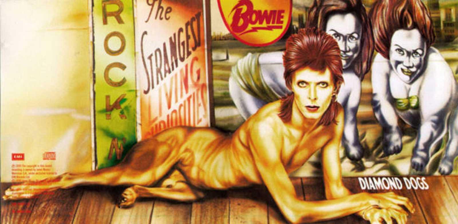 Guy Peellaert, portada del disco 'Diamond Dogs', de David Bowie, RCA Records, fotografía/collage/dibujo en papel, 1974