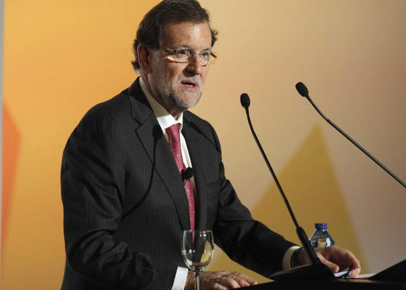 El presidente del Gobierno, Mariano Rajoy, en la clausura del XVII Congreso de la Empresa Familiar.