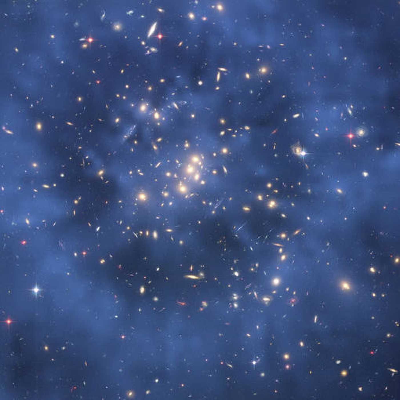 El cúmulo de galaxias CL0024+17, tomada por el telescopio espacial Hubble.