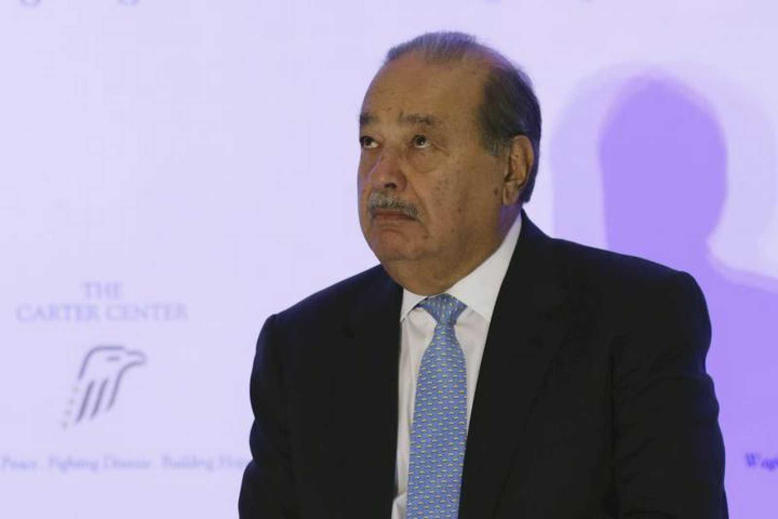 Carlos Slim, durante un acto benéfico en Ciudad de México este mes