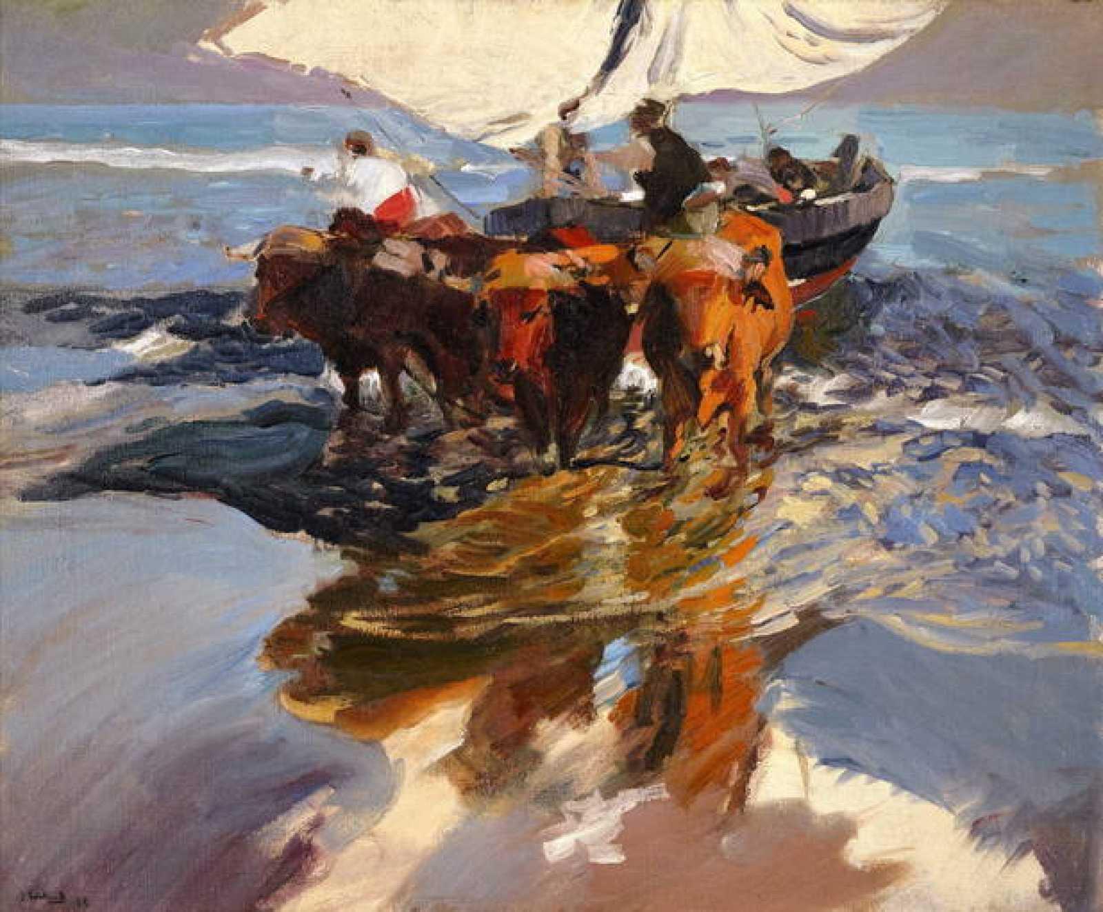 """Joaquín Sorolla, """"Vuelta de la pesca. Playa de Valencia"""" (1908)"""