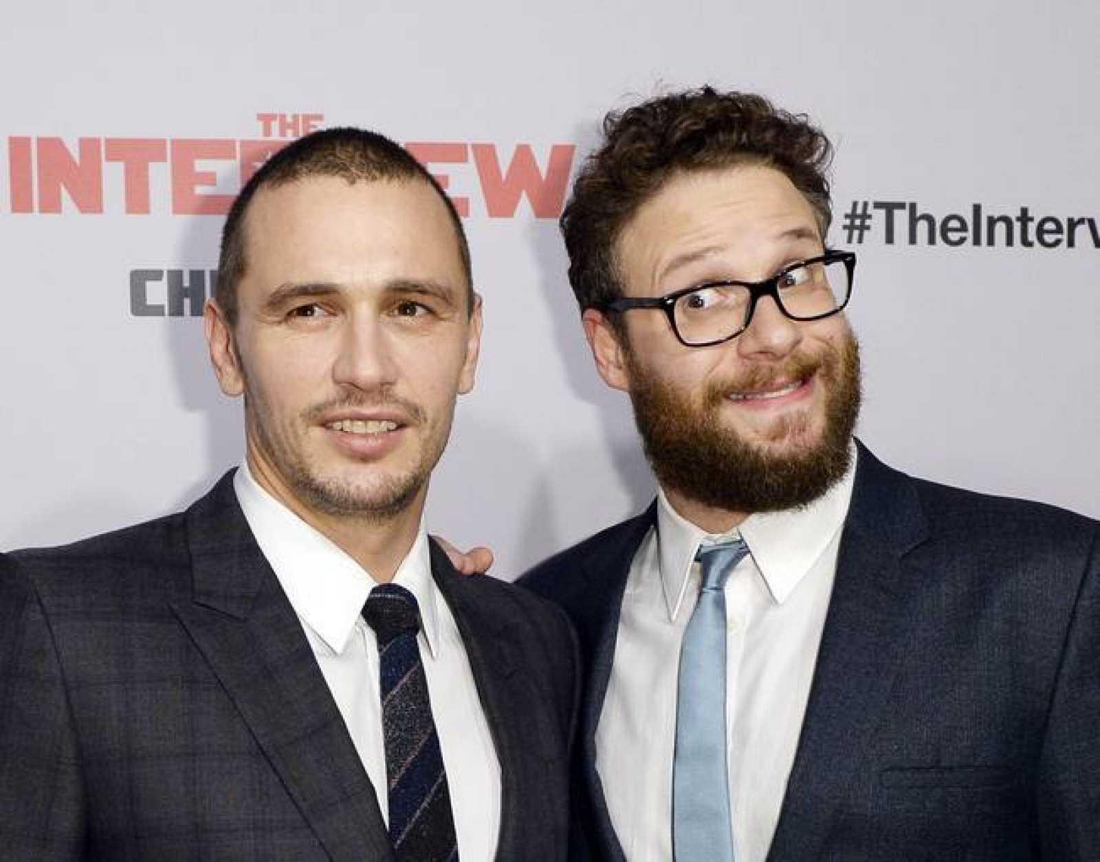 Los actores James Franco y Seth Rogers durante la premiere de 'The Interview' el pasado 11 de diciembre.