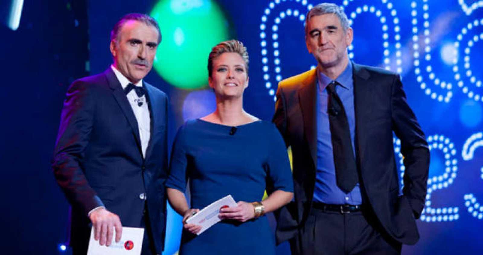 María Casado, Juan y Medio y Juanma López Iturriaga, los presentadores de la gala