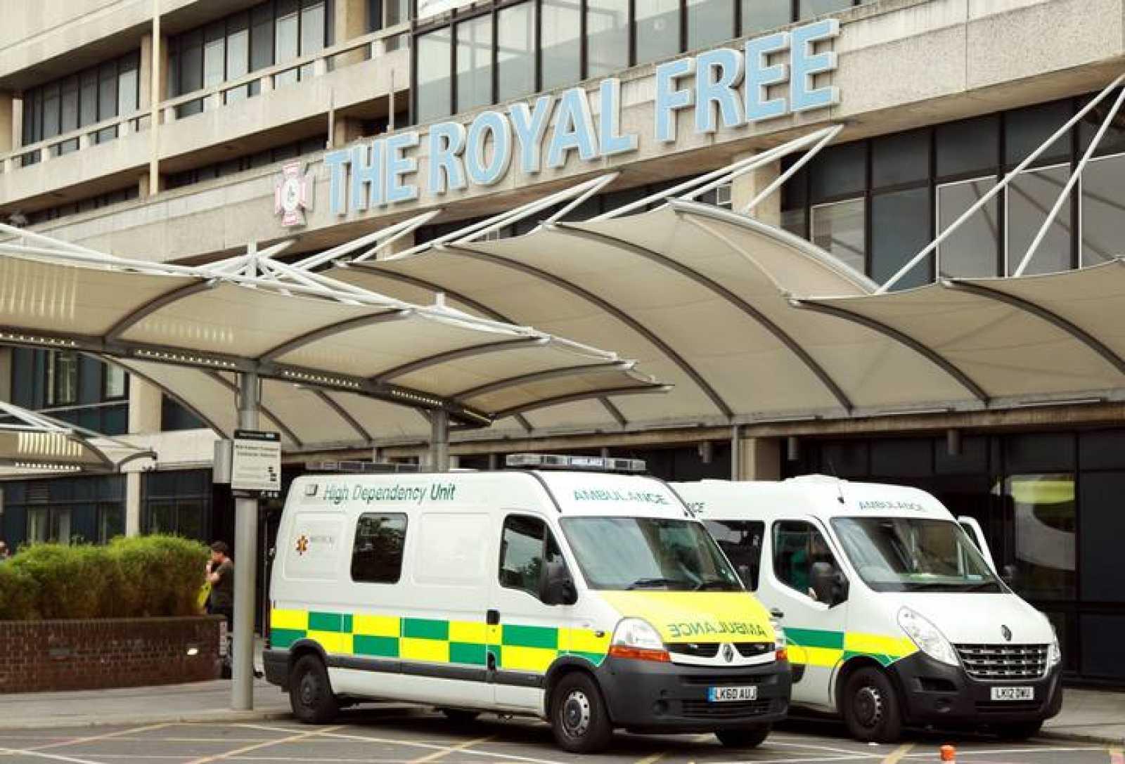 Fotografía de archivo del exterior del Royal Free Hospital en Londres (R.Unido)