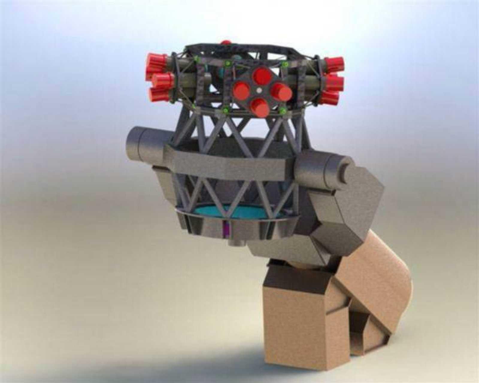 El diseño del nuevo telescopio incorpora 16 tubos ópticos que trabajan en conjunto como las facetas de los ojos de una mosca