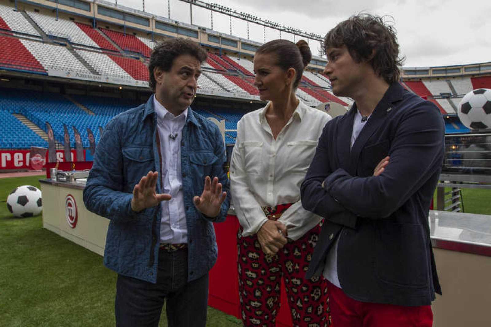 Pepe Rodríguez, Samantha Vallejo-Nágera y Jordi Cruz