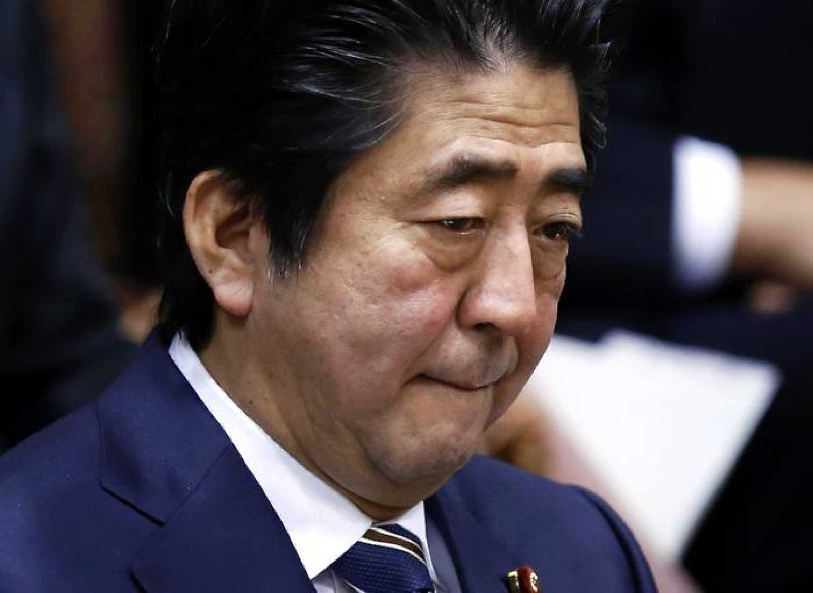 El primer ministro de Japón, Shinzo Abe, durante una reunión en el parlamento de Tokio.