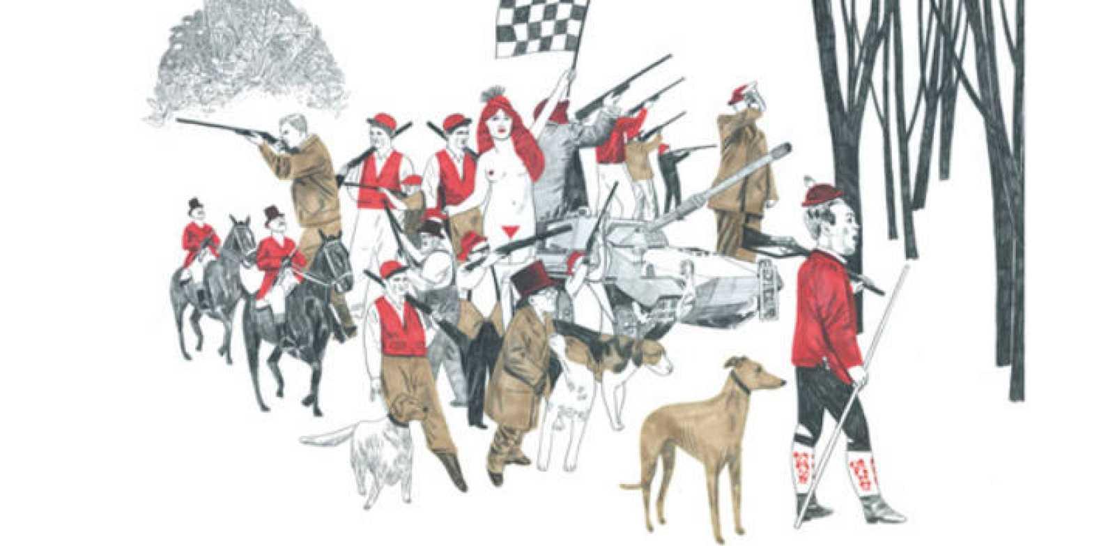 Ilustración de Sonia Pulido para el libro 'Caza de conejos'