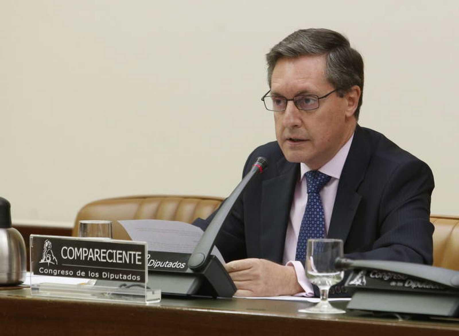 El director general de la Agencia Tributaria (AEAT), Santiago Menéndez, en el Congreso
