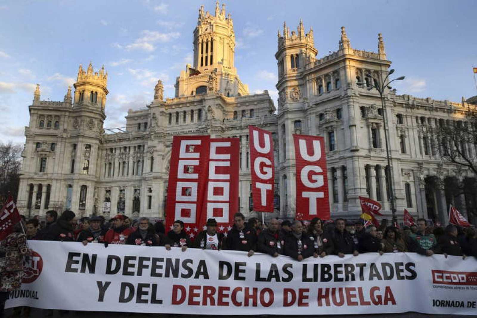 MANIFESTACIÓN EN DEFENSA DE LAS LIBERTADES Y DEL DERECHO DE HUELGA