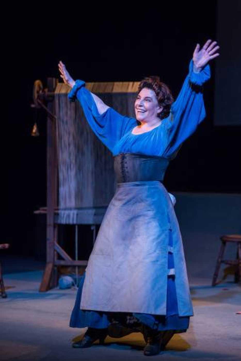 La actriz Charo López en el Teatro Real representa 'Ojos de agua'