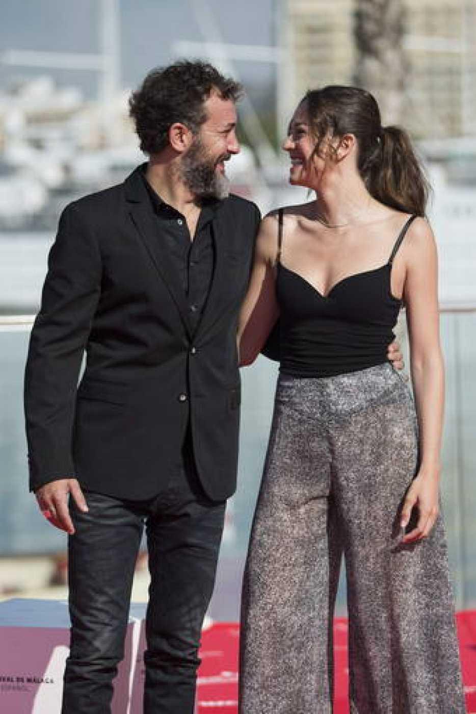 Los actores Cristina Alarcón y José Luis García-Pérez en la presentación de 'El país del miedo'