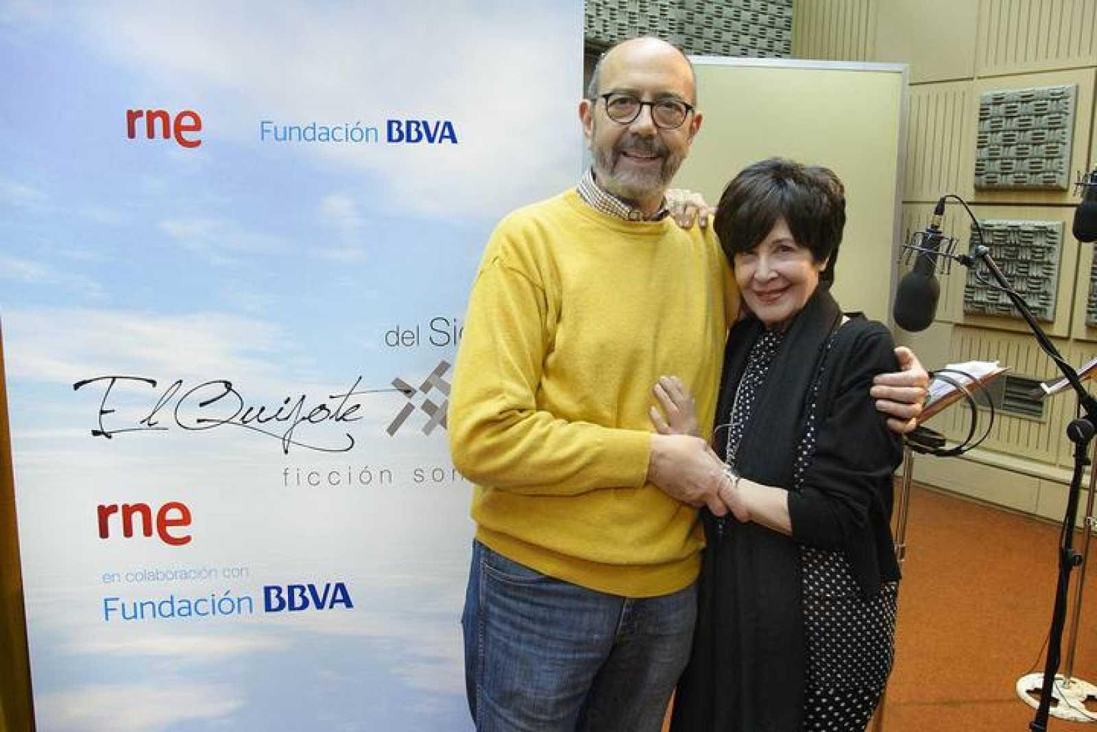 Miguel Rellán y Concha Velasco, en el Teatro 2 de la Casa de la Radio.