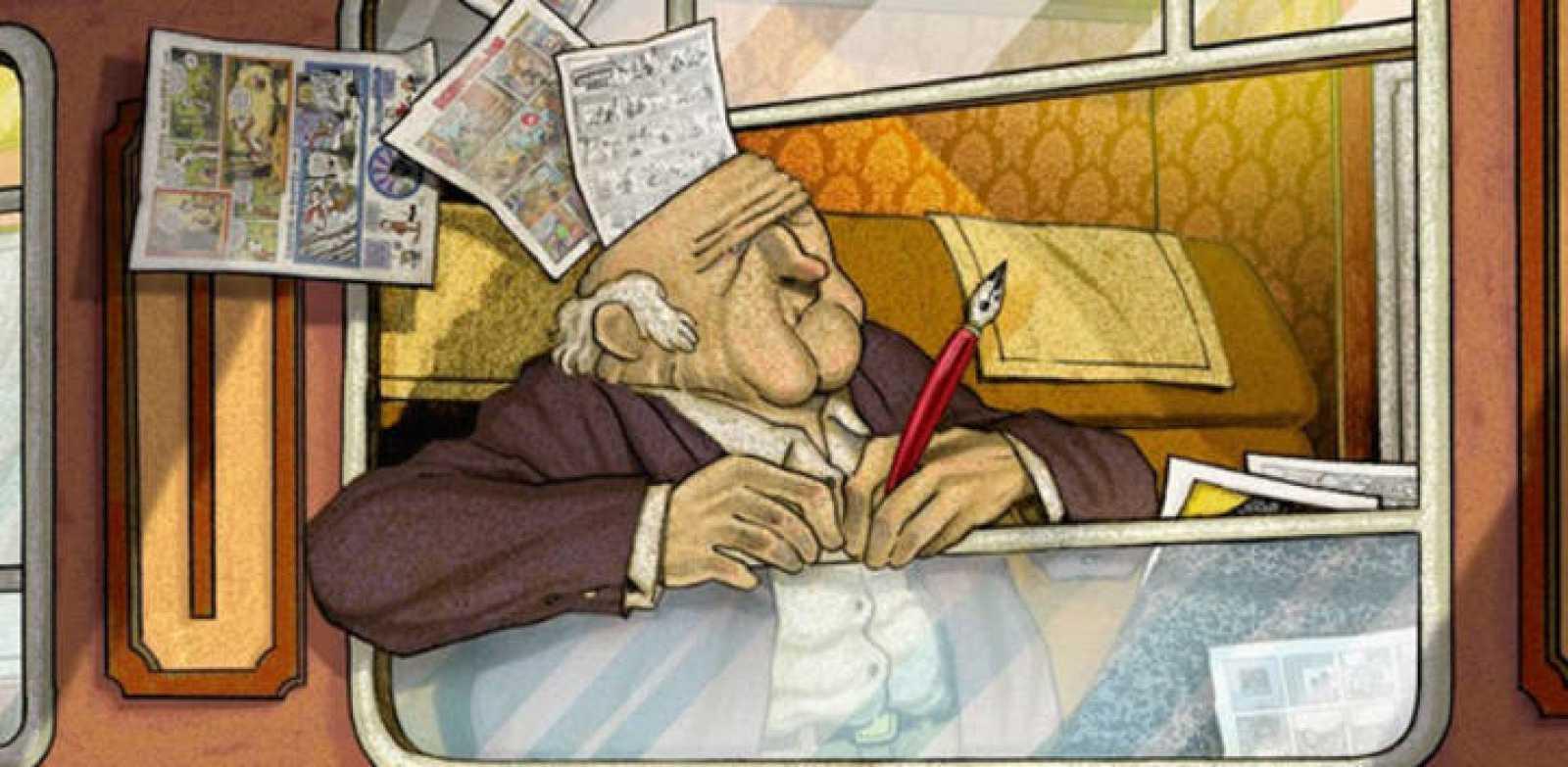 Fragmento de la portada de 'El infierno del dibujante'