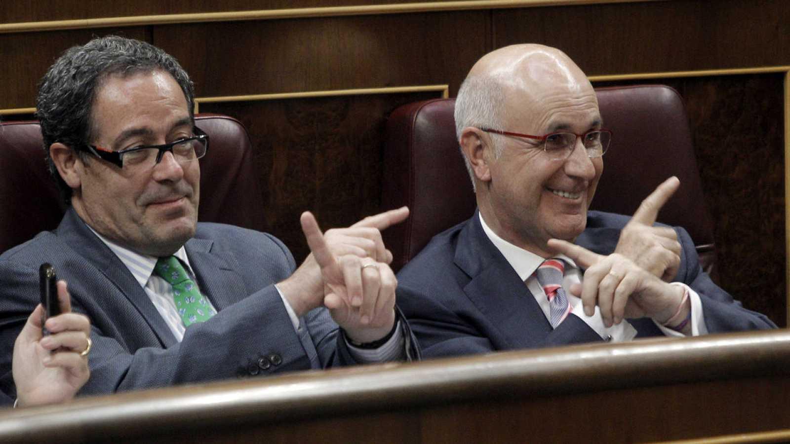 Pere Macías (i) y Duran i Lleida en una foto de archivo en el Congreso