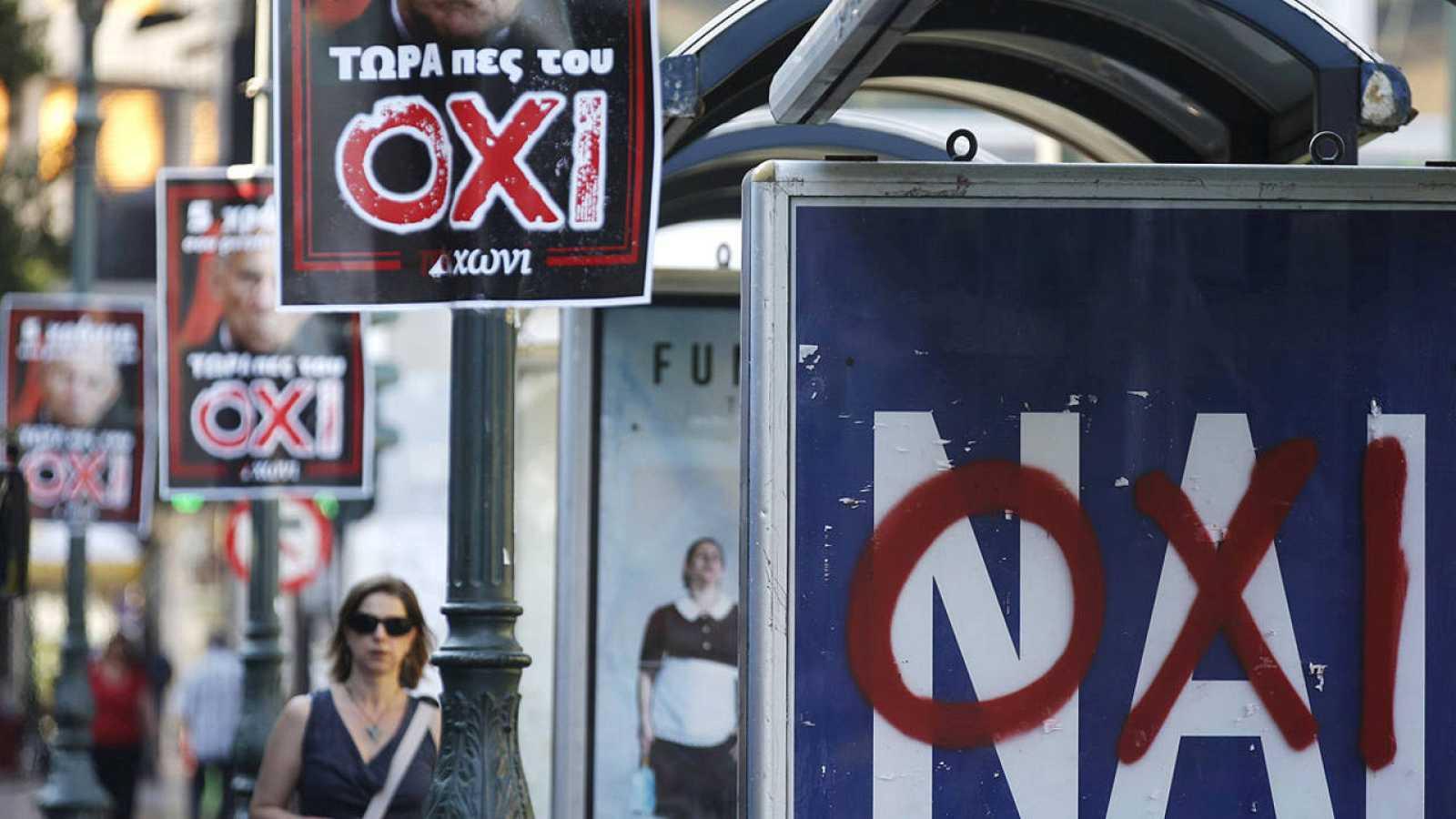 La sociedad griega se muestra muy dividida respecto a la consulta
