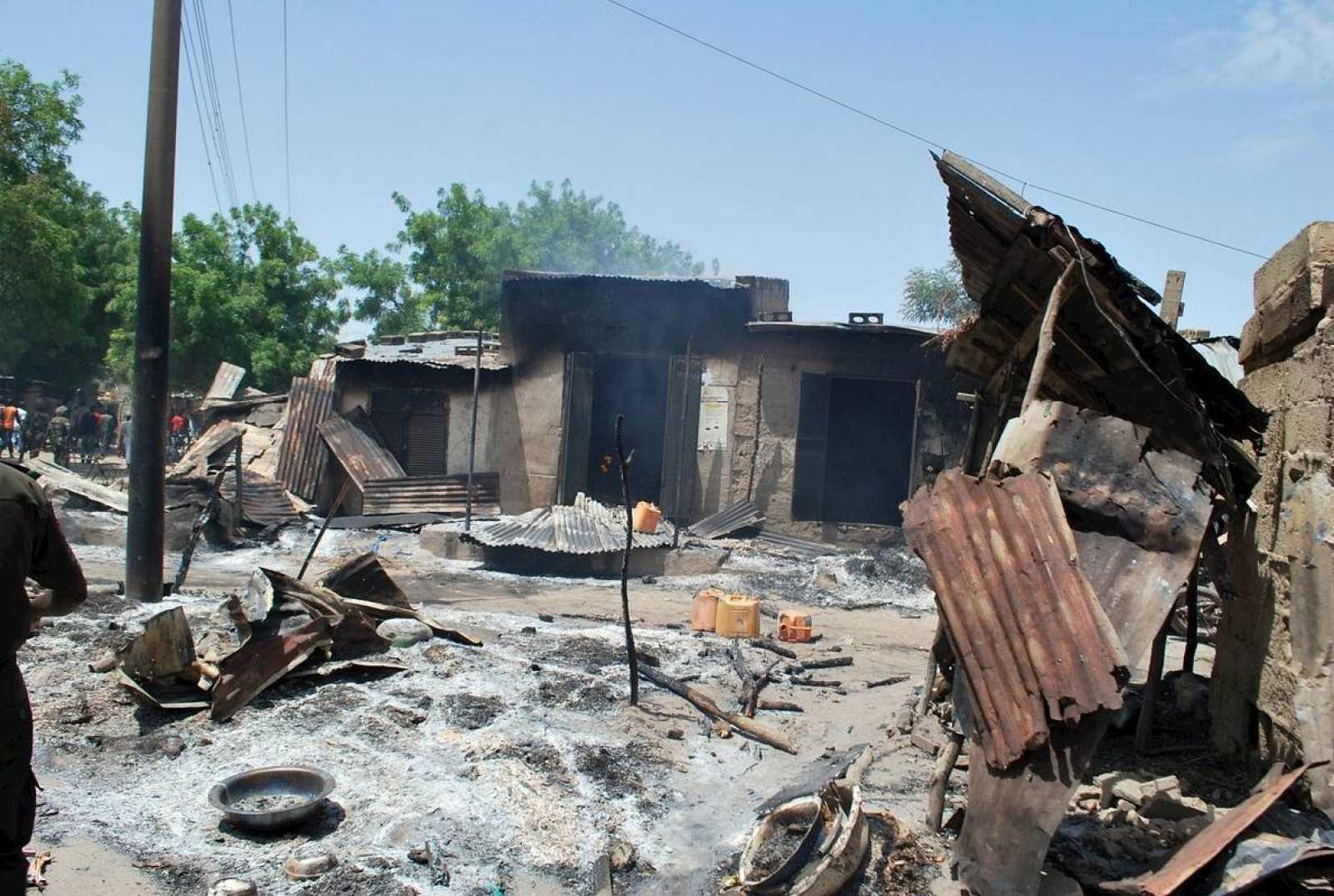 Imagen del atentado del pasado sábado en Nigeria.