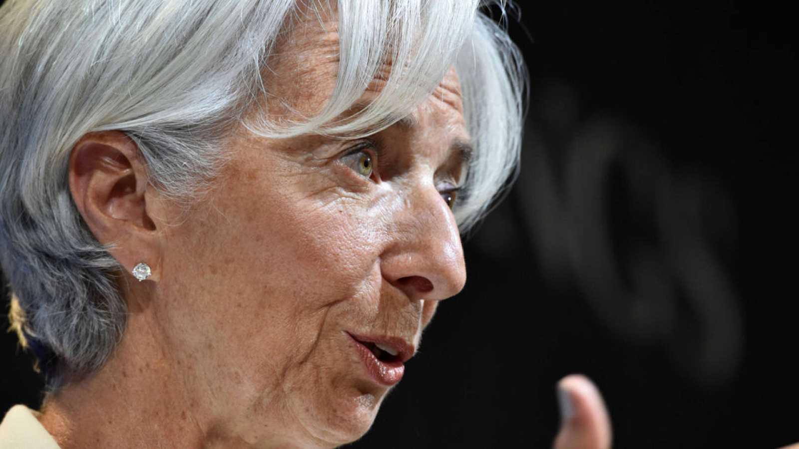 Un momento de la intervención de la directora gerente de Fondo Monetario Internacional (FMI), Christine Lagarde, sobre Grecia en el Brookings Institute de Washington.