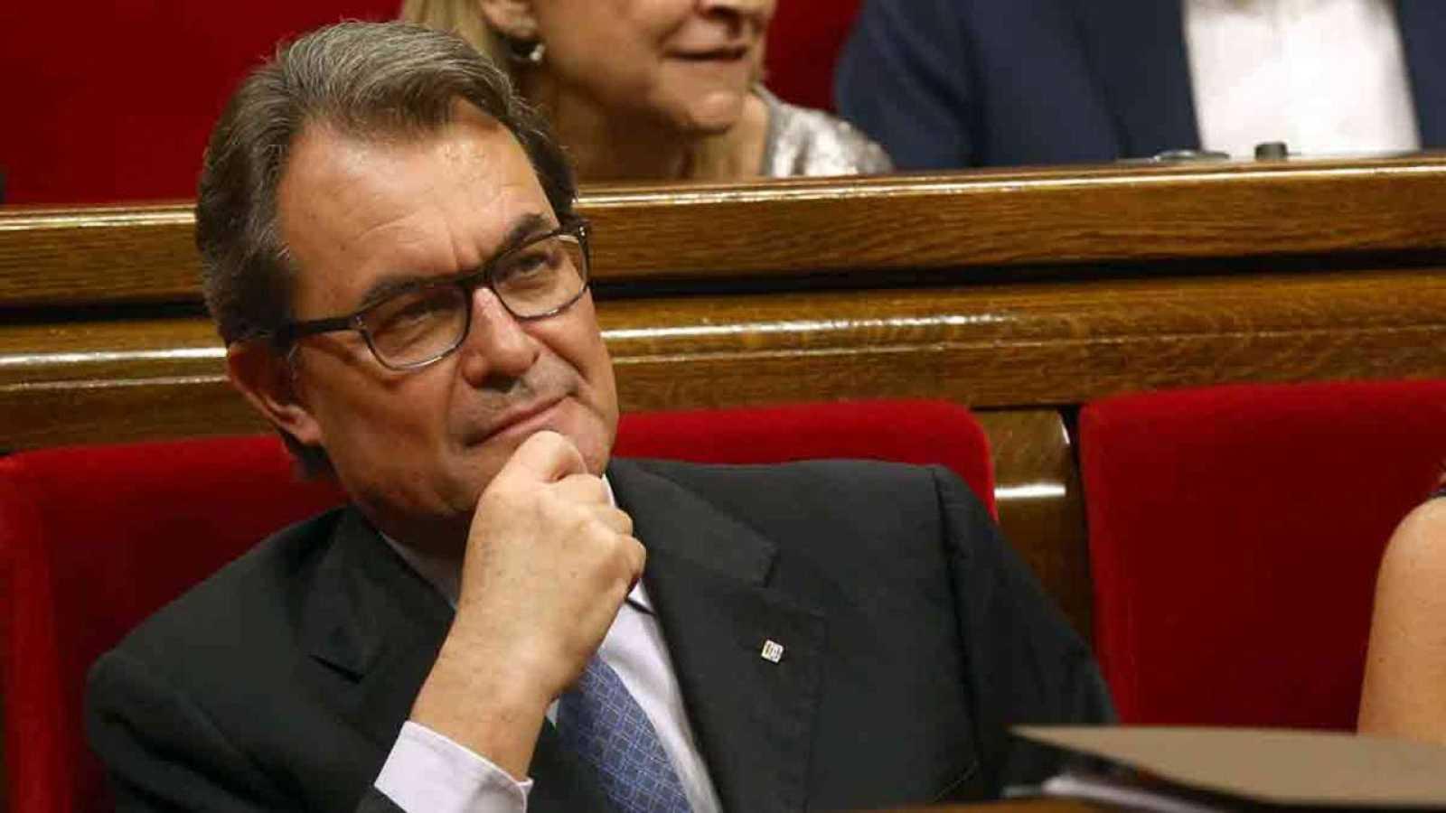 El presidente catalán, Artur Mas, en un pleno del Parlament.