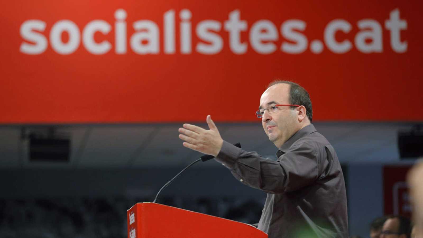 El secretario del PSC, Miquel Iceta, durante la reunión del Consejo Nacional de su partido