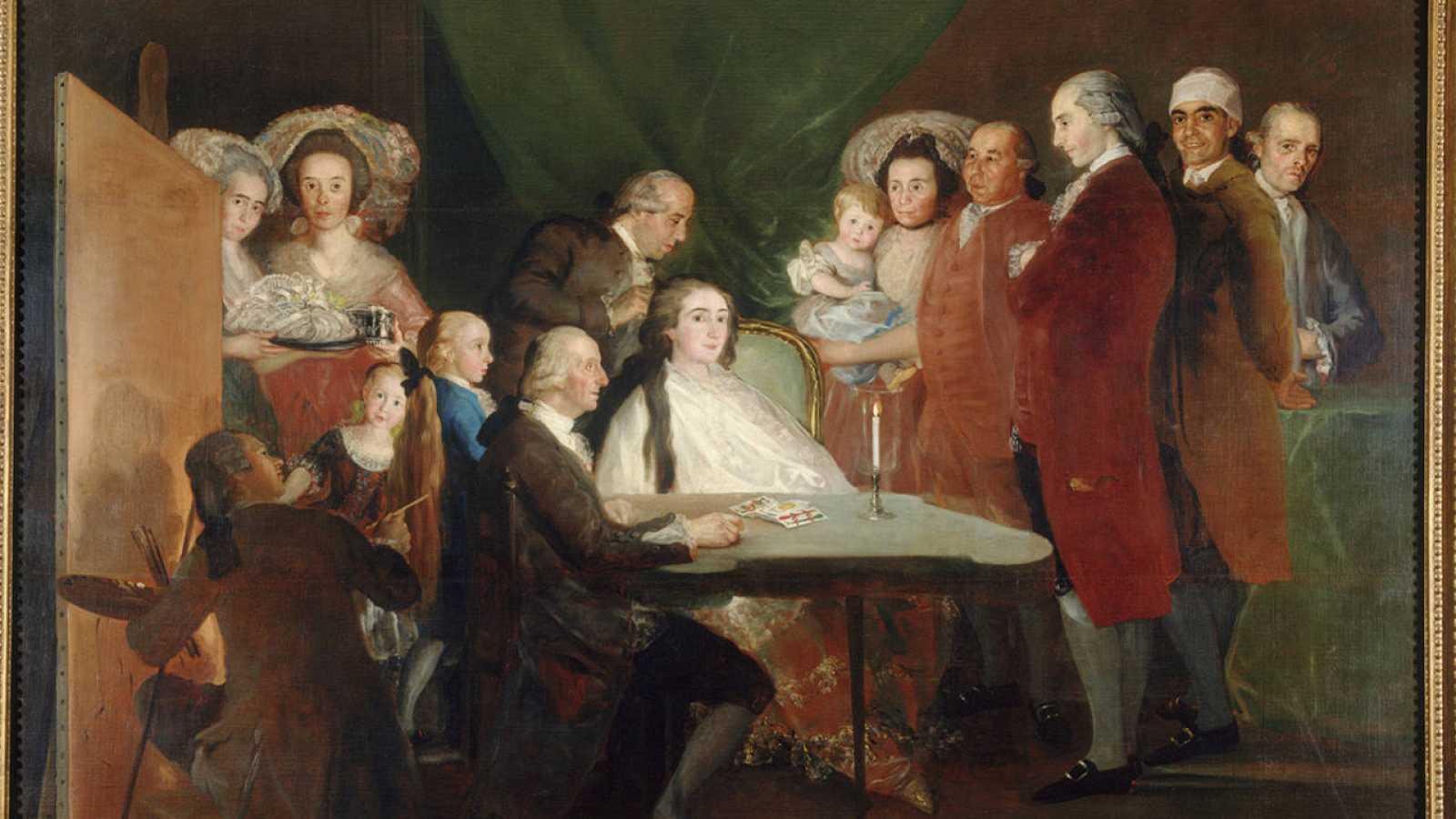 'La familia del infante don Luis de Borbón' (1783-84).Francisco de Goya.