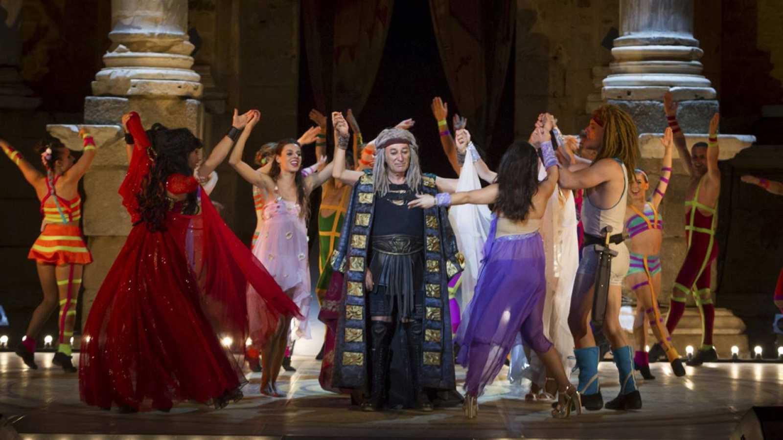 Representación del musical 'Hércules' en el Festival de Mérida