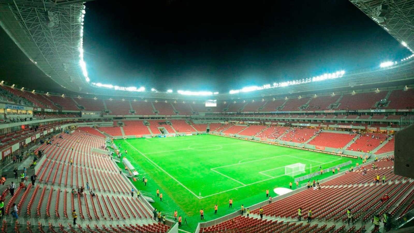 Fotografía de archivo del estadio Arena Pernambuco en la ciudad de Recife, Brasil.