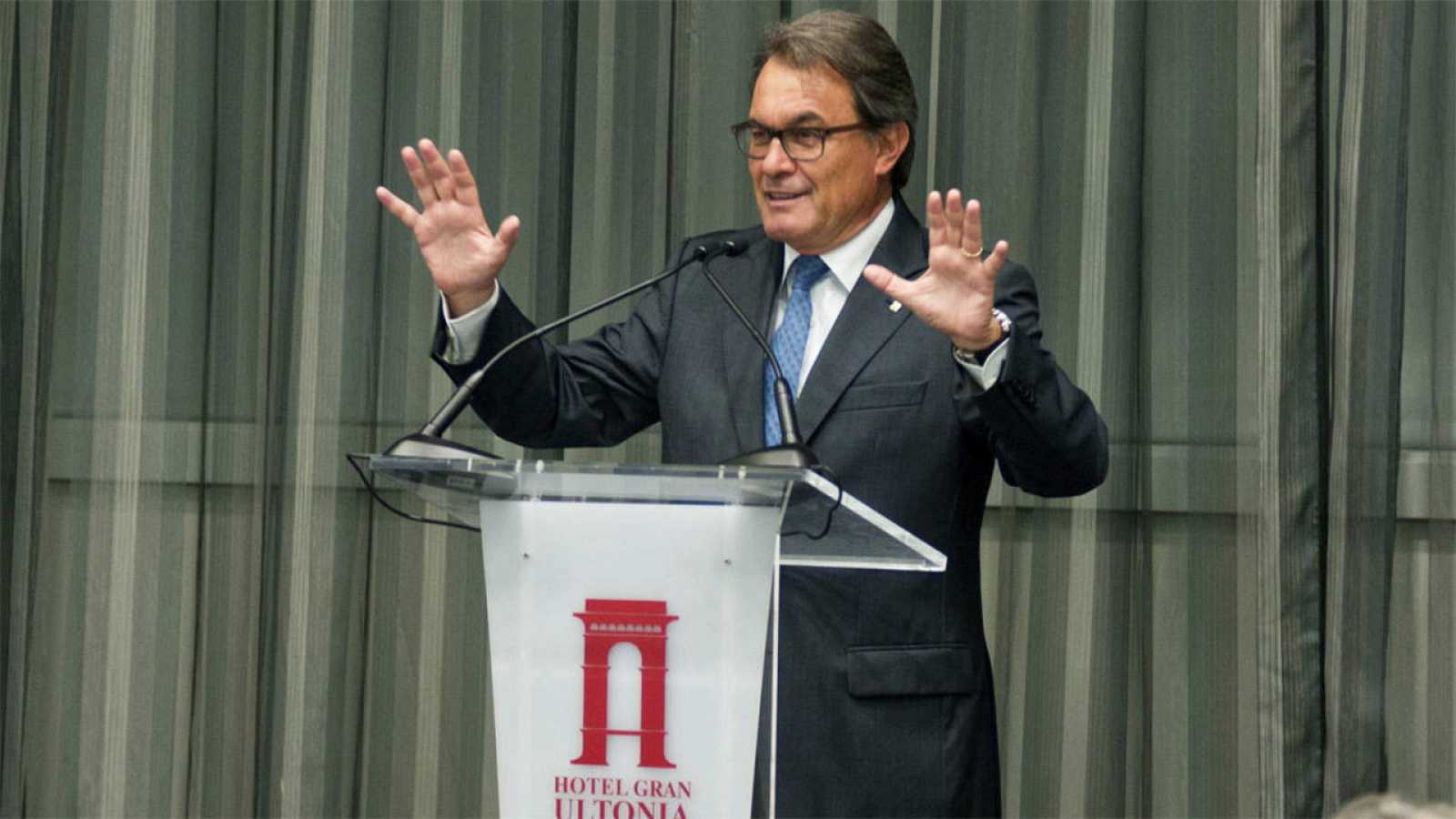 El presidente catalán, Artur Mas, en una conferencia en la Cámara de Comercio de Girona.