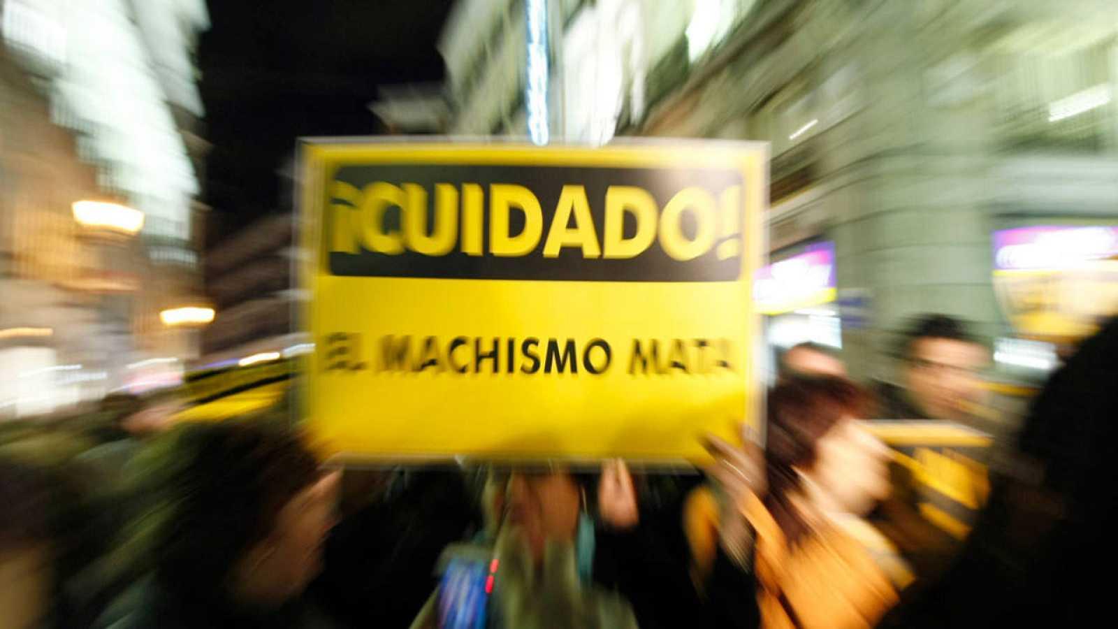 Imagen de una manifestación en Madrid contra la violencia machista.