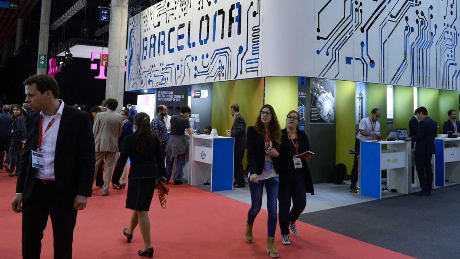 Asistentes a un congreso sobre el internet de las cosas en Barcelona