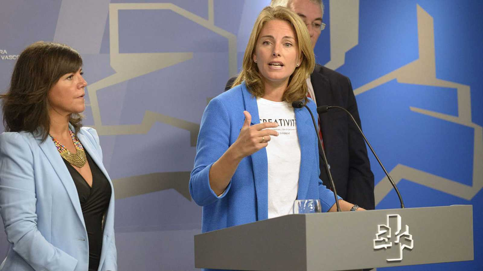 La presidenta del PP de Euskadi, Arantza Quiroga