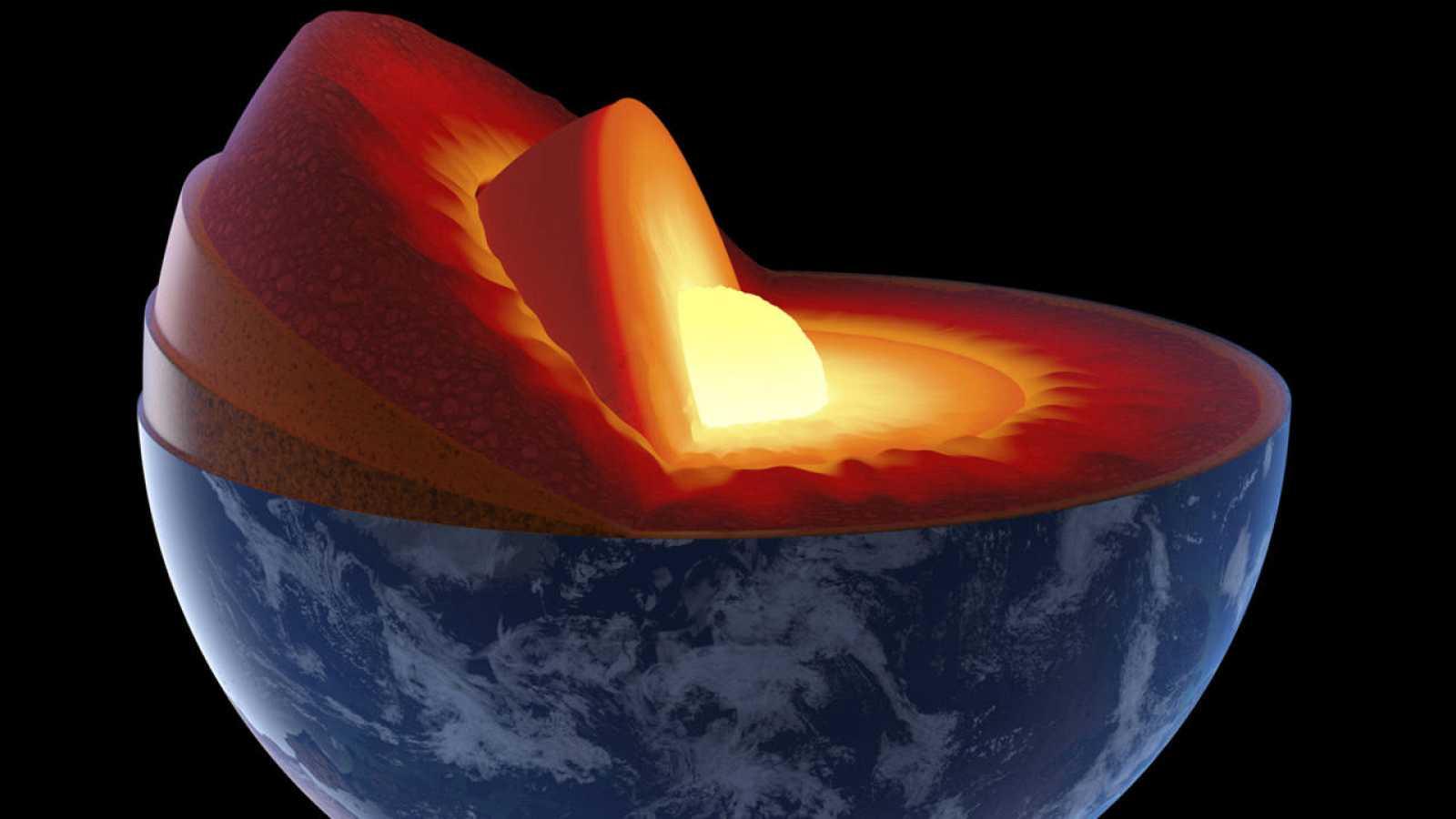 La capa más profunda de la Tierra es un bola de hierro sólido rodeada por un núcleo externo líquido.